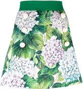 Dolce & Gabbana hydragenea print skirt - women - Silk/Cotton/Spandex/Elastane/Viscose - 40