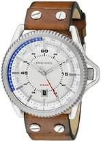 Diesel Men's DZ1715 Rollcage Stainless Steel Brown Leather Watch