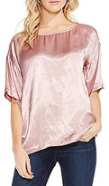 Vince Camuto Casual Satin Relaxed Tee