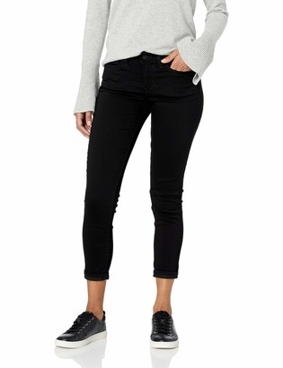 Signature by Levi Strauss & Co. Gold Label Signature by Levi Strauss & Co Women's Mid Rise Skinny Cuffed Jeans
