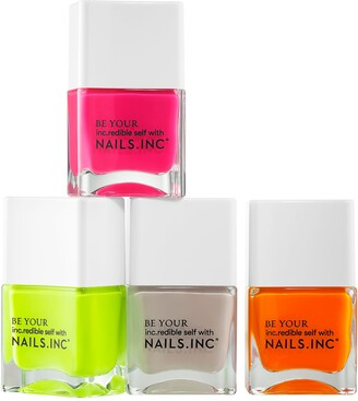 Nails Inc Naked In Neon Nail Polish set