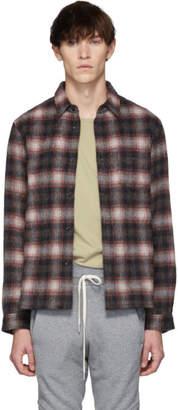 John Elliott Red Alpaca Sly Straight Hem Shirt