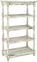 UMA Antique White Wood & Metal Shelf