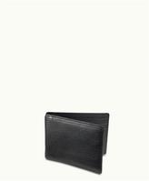 GiGi New York Money Clip Black Vachetta Leather