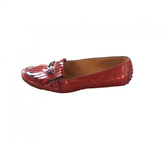 Tod's Gommino Red Patent leather Flats