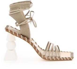 Jacquemus Valerie Haute Suede E Canvas Sandals