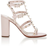 Valentino Women's Rockstud Triple-Strap Sandals-LIGHT PINK