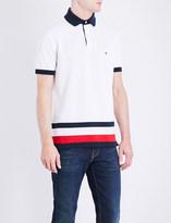 Tommy Hilfiger Striped-detail slim-fit cotton polo shirt