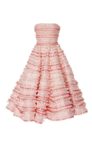 John Galliano Embroidered Rushed Dancing Dress