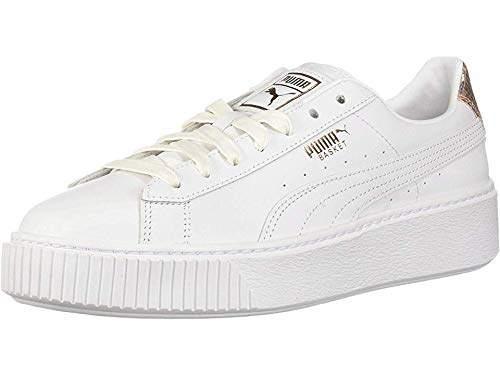 new styles 2d246 f5890 Women's Basket Platform Sneaker White-Rose Gold