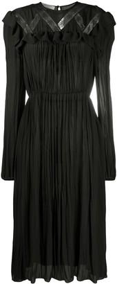 Philosophy di Lorenzo Serafini Lace-Detail Flared Dress