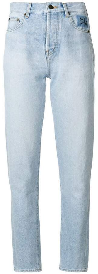Saint Laurent high waisted tapered jeans