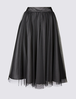 Twiggy Lace Tutu A-Line Midi Skirt