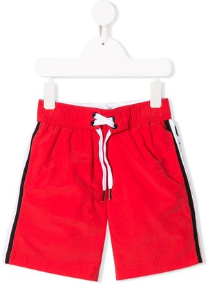 Givenchy Kids Logo Stripe Swim Shorts