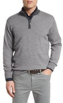 Peter Millar Cashmere-Blend Quarter-Zip Pullover Sweater, Nickel