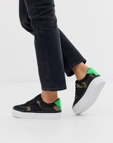 Asos Design DESIGN Detect flatform sneakers in camo