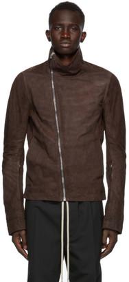 Rick Owens Burgundy Lambskin Bauhaus Jacket