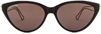 Balenciaga Inception Acetate Sunglasses in Shiny Black & Grey | FWRD
