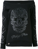 Philipp Plein off-the-shoulder sweatshirt