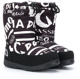 Dolce & Gabbana Kids Printed Snow Boots