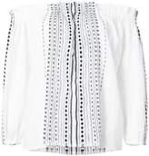 Lemlem striped off shoulder blouse