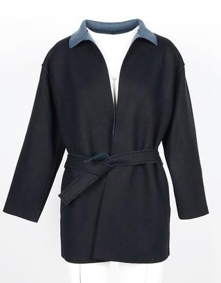 Lamberto Losani Black Wool, Cashmere and Silk Women's Jacket