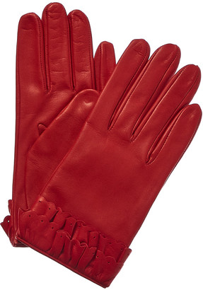 Portolano Women's Autumn Russet Silk-Lined Leather Gloves