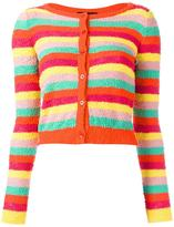Moschino striped cropped cardigan - women - Cotton/Polyamide/other fibers - 40