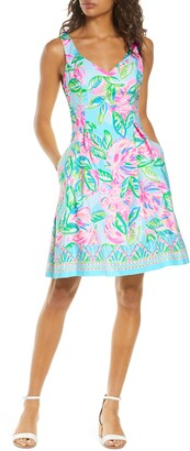 Lilly Pulitzer Linnet Watercolor Fit & Flare Dress