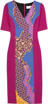 Peter Pilotto Printed stretch-wool crepe dress