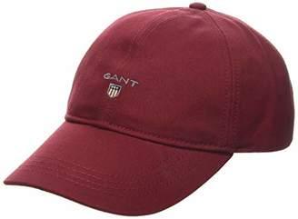 Gant Men's Twill Baseball Cap, (MAHOGNY RED 617), One (Size: Oversize)
