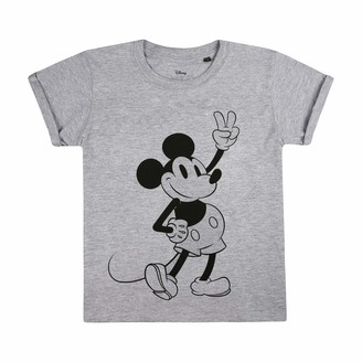 Disney Girl's Mickey Mouse Peace T-Shirt
