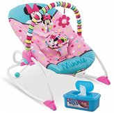 Disney Baby Minnie Mouse Peekaboo Infant To Toddler Rocker Plus BONUS Hypoallergenic, Unscented Baby Wipes, 128 Count