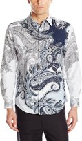Cubavera Cuba Vera Men's Long Sleeve Paisley Woven Shirt