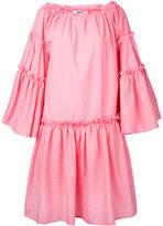 MSGM flared ruffle trim dress - women - Cotton/Polyester - 44