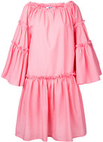 MSGM flared ruffle trim dress
