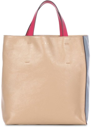 Marni Small Museo Soft Smooth Leather Tote Bag
