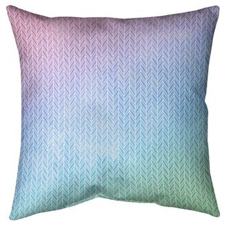"""Mcguigan Herringbone Throw Pillow East Urban Home Size: 14"""" x 14"""", Fill Material: Poly Fill, Color: Bright Gray"""