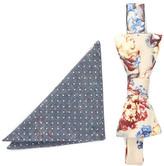 Original Penguin Waldis Floral Bow Tie & Pocket Square Set