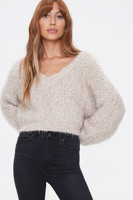 Forever 21 Fuzzy Chenille Sweater