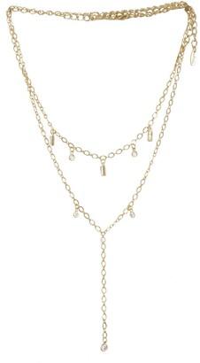 Ettika Crystal Multi Layered Shaker Charm Lariat Necklace