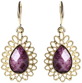 Amrita Singh Goldtone & Amethyst Teardrop Earrings