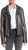 Frame Women's Oversized Leather Moto Jacket
