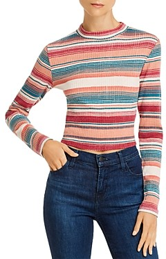 Roxy Smooth Move Striped Cropped Top