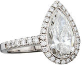 18K Pear-Shaped Diamond Ring