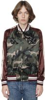 Valentino Camo & Panther Satin Souvenir Jacket