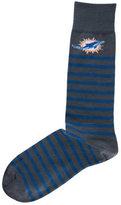 For Bare Feet Miami Dolphins Thin Stripes Socks