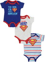 """Superman Baby Boys' """"I'm a Real Hero"""" 3-Pack Bodysuits"""