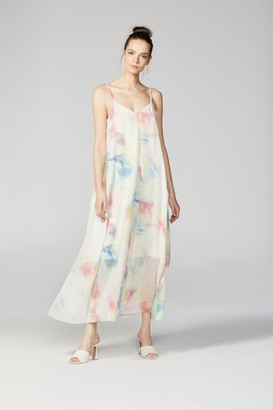 Vince Camuto Watercolor-Print Maxi Dress