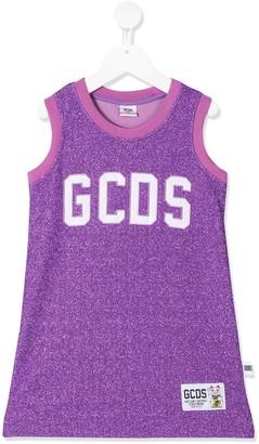 Gcds Kids Logo-Embroidered Sleeveless Top